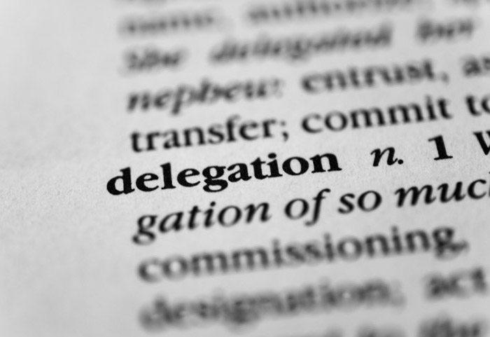 Step back and delegate