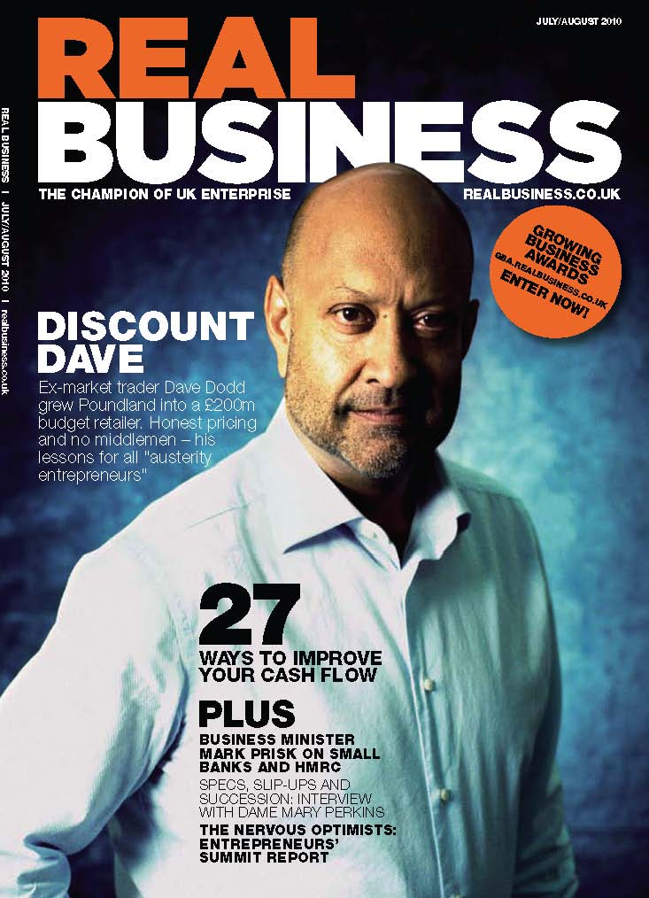 July/August 2010 edition of Real Business magazine
