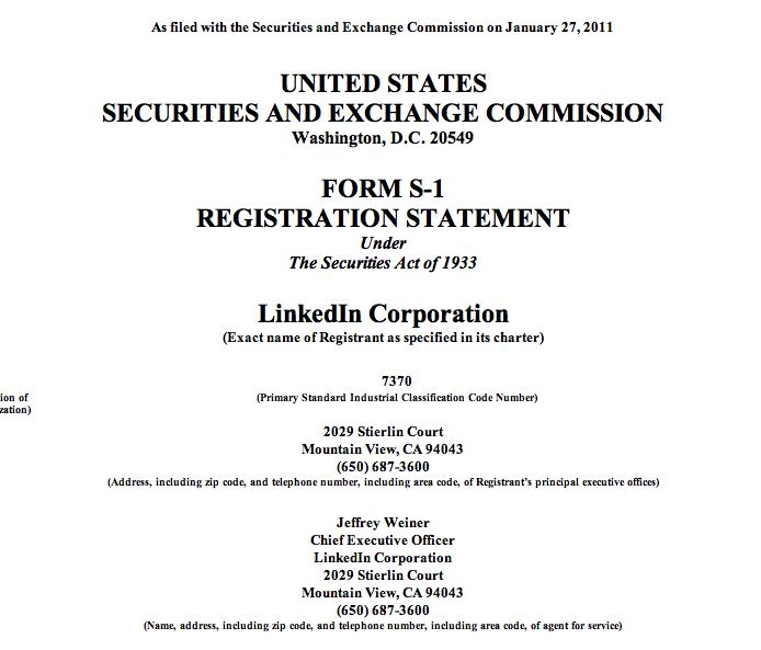 LinkedIn's IPO filing: the interesting bits