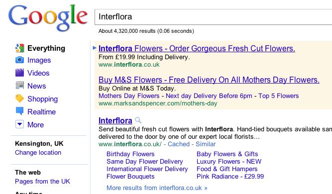 Google AdWords: Interflora vs M&S ruling