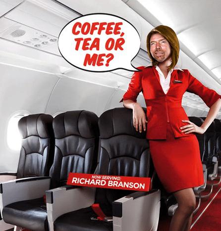 Richard Branson auctions off leg shaving
