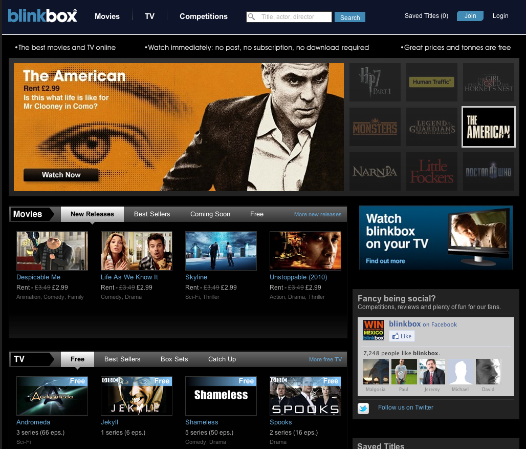 Tesco buys film streaming firm Blinkbox