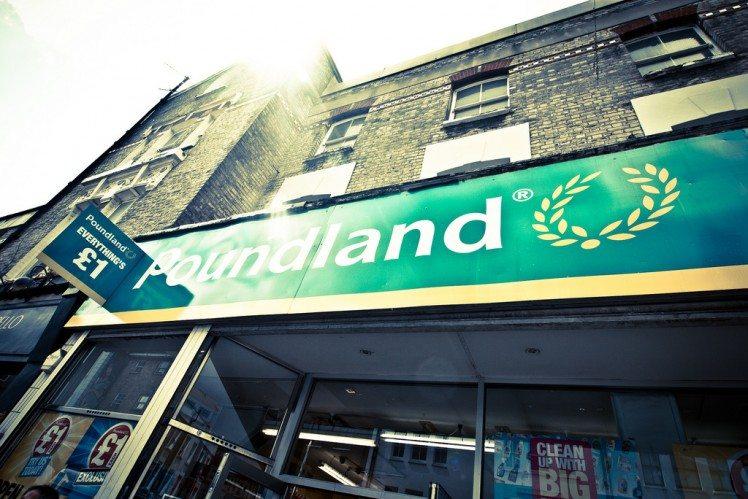 Poundland looks across the water to Ireland