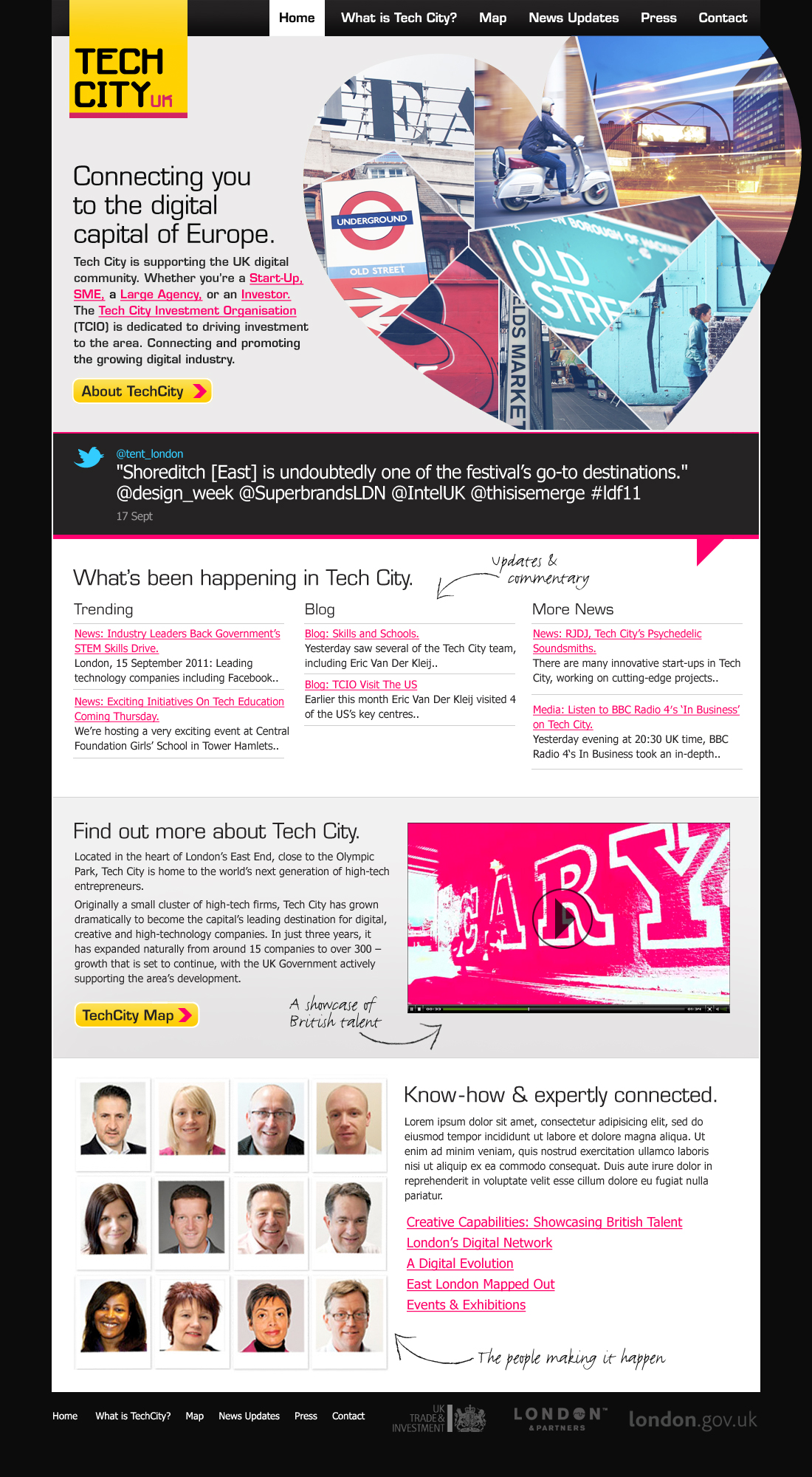 The Tech City website: how it could have looked