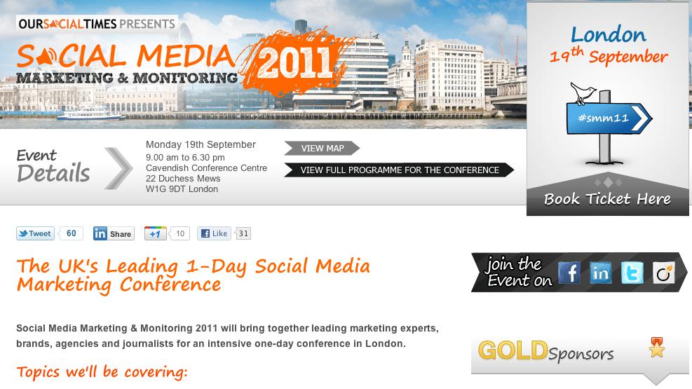 Buy your ticket: Social Media Marketing & Monitoring 2011