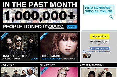 Myspace reshuffle attracts 1m users