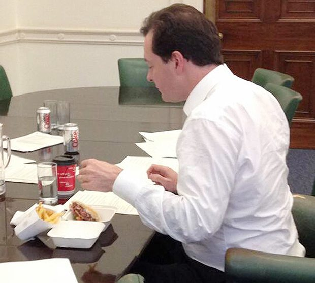 "Osborne's ""posh"" burger was entirely deserved"