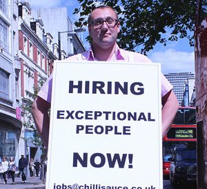 Why I put the boss in a sandwich board for days around London