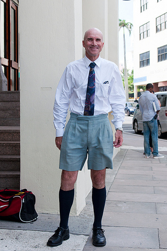 Should employees swap work wear for Bermuda shorts in UK heatwave?