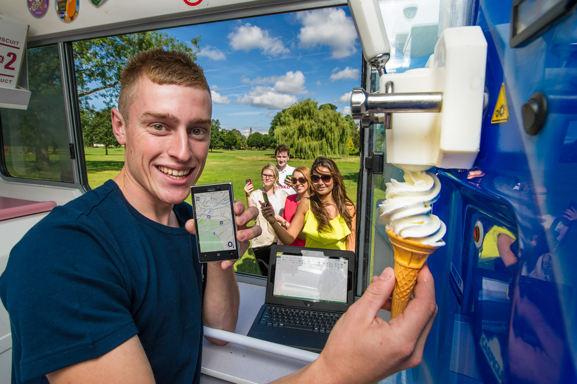Britain has unveiled its most high-tech fleet of ice cream vans
