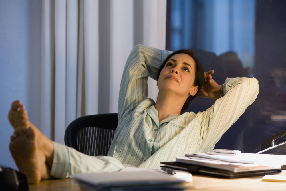 A third of Brits wear pyjamas when working from home