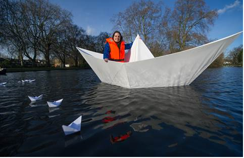 Great British engineering talent showcased to students through origami