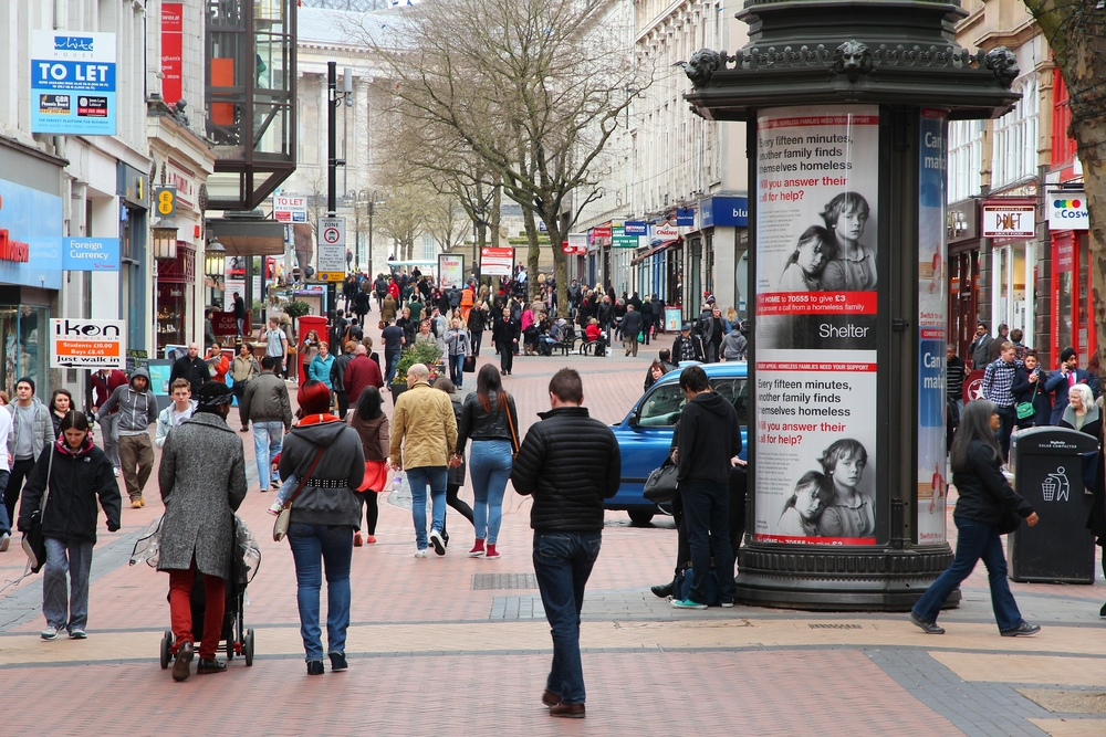 British high street defeated online commerce in January sales