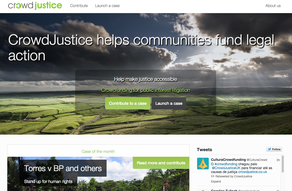 Crowdfunding comes to the legal system with launch of CrowdJustice