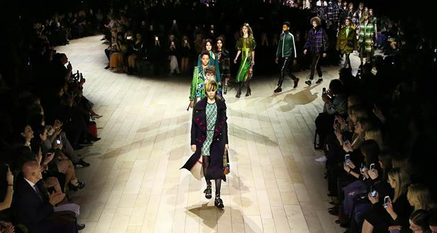 Burberry takes new collection directly from runway and celebs to flagship store