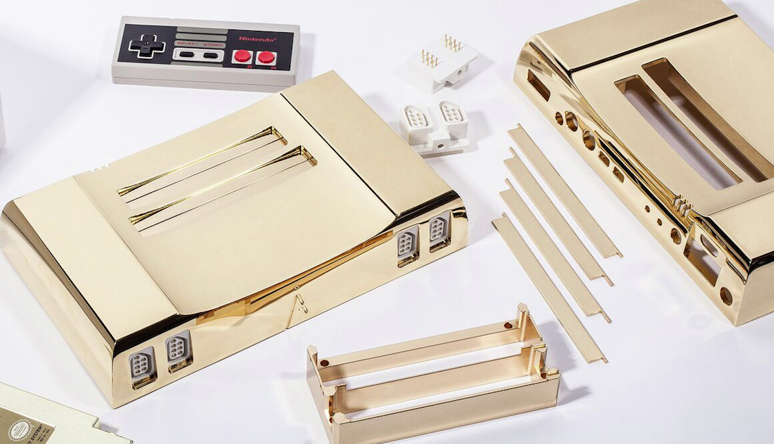 An exclusive 24 carat gold Nintendo console can be yours for $5,000