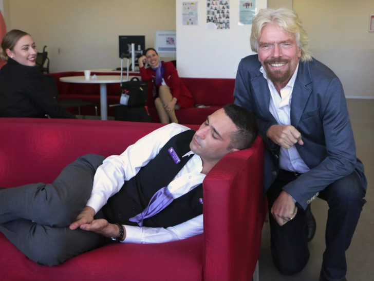 Would you react the same way as Richard Branson if you caught a worker sleeping?