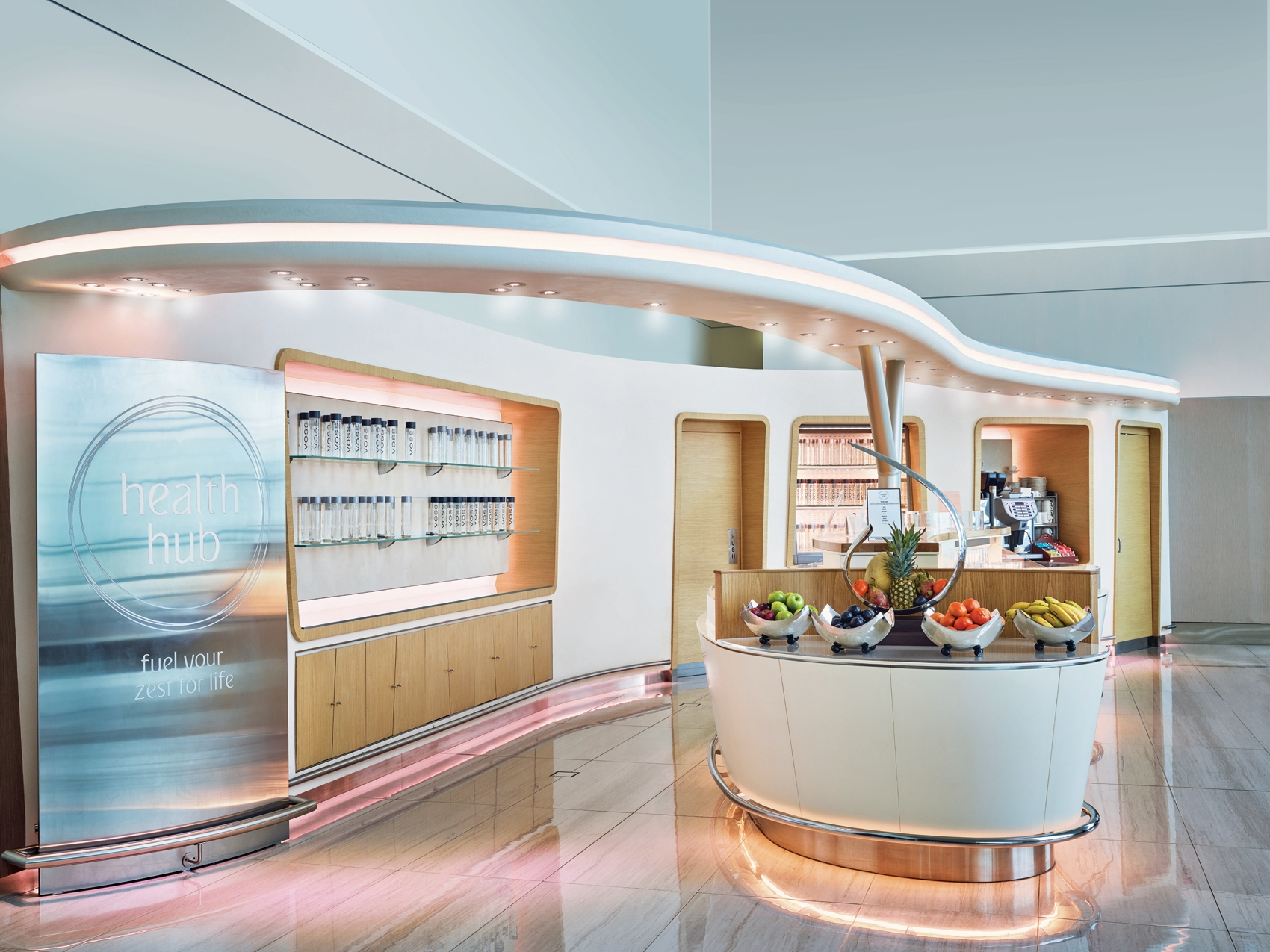 Emirates Business Class Lounge Health Hub Voss