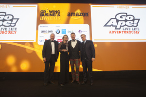 Go Ape wins Rural Business of the Year at the 2016 Amazon Growing Business Awards