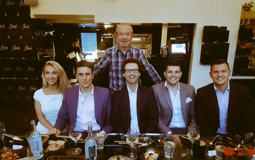 A handful of The Apprentice winners join Sugar for lunch