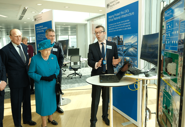 The Queen watches mock cyber attack at new security centre