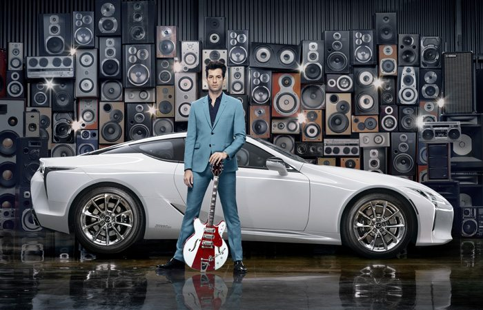 Ellie Goulding and Mark Ronson make their mark on the luxury car industry