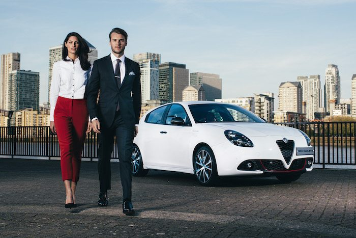 Suit inspired by Alfa Romeo Giulietta can withstand British weather
