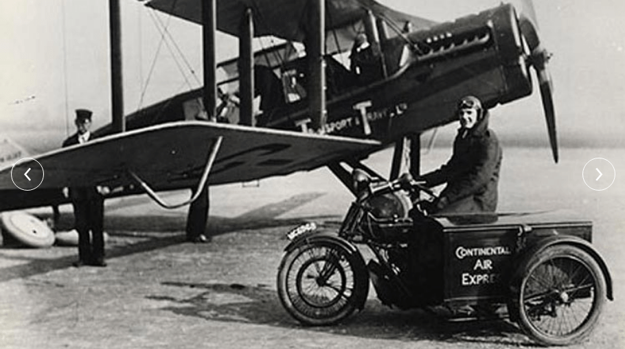 The world's first commercial international flight.