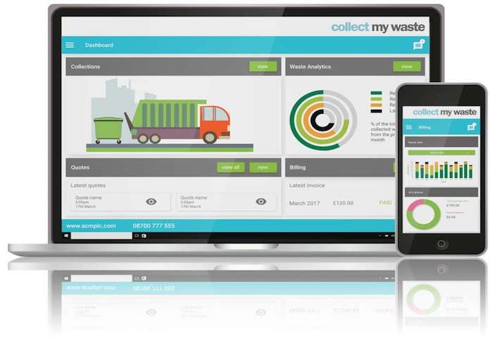 Collect My Waste is an app that helps businesses and individuals dispose of specific waste sustainably.