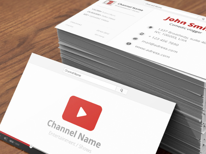 The YouTube example of a social media business card
