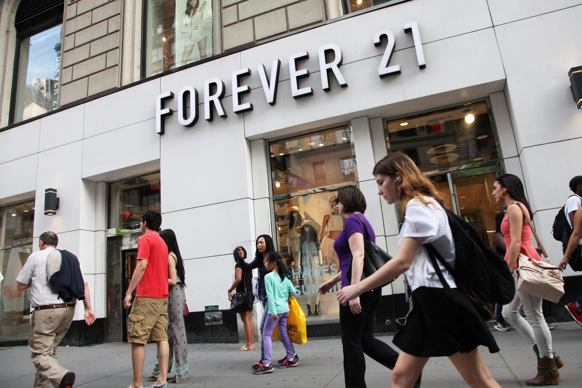 Clothing giant Forever 21 files for bankruptcy