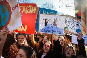 Children protest