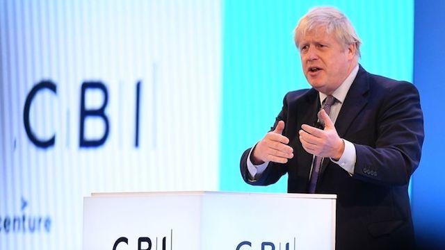 Boris Johnson CBI