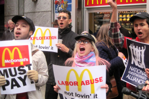McDonald's work strike