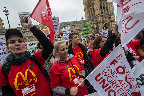 Does McDonald's workers strike reveal a lack of corporate care?