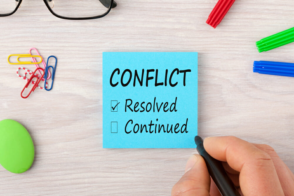 Three top tips to prevent, manage and resolve workplace conflict