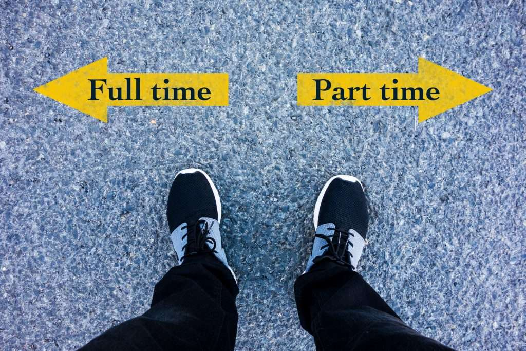 Benefits of working part-time vs full-time