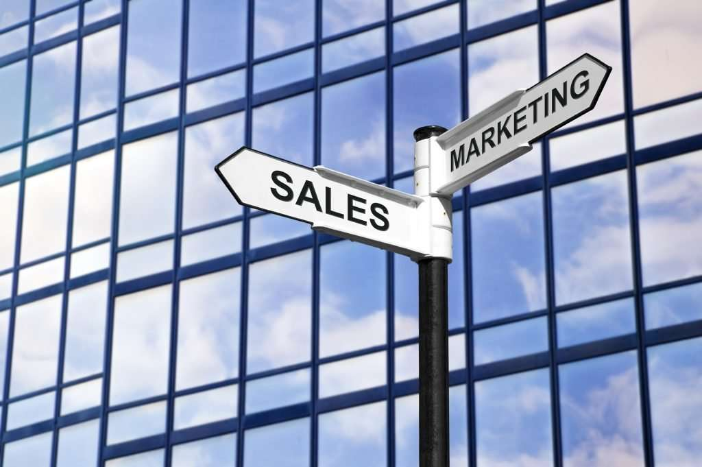 What does the sales and marketing department do?